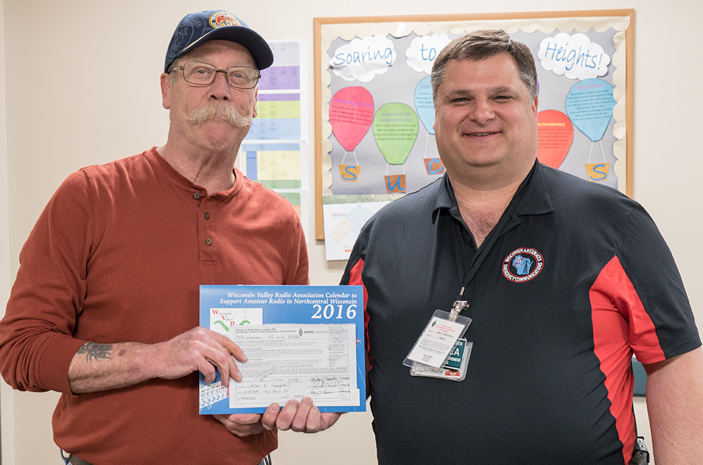 Al Campbell received his Technician license at a recent WVRA sponsored FCC license exam session.
